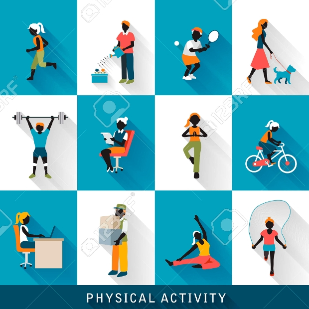 Modern Physical Activity Icons