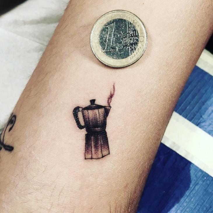 Small Coffee Mug Tattoo Idea
