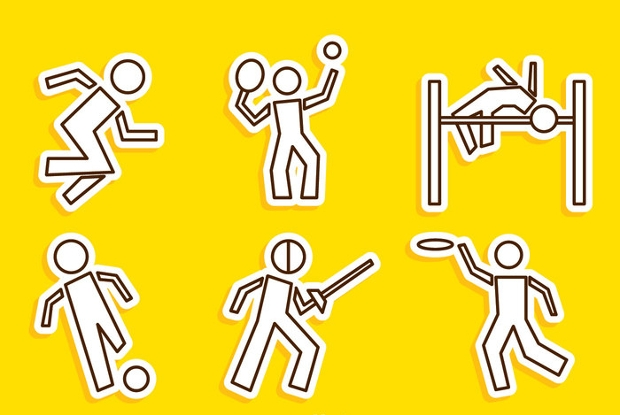 sport line vector icons