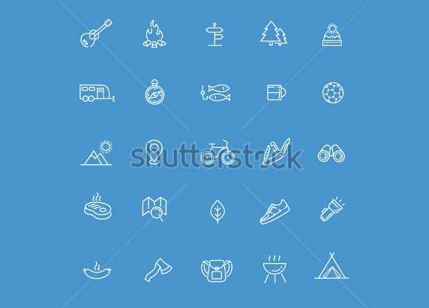Nature Outdoor Activities Icons