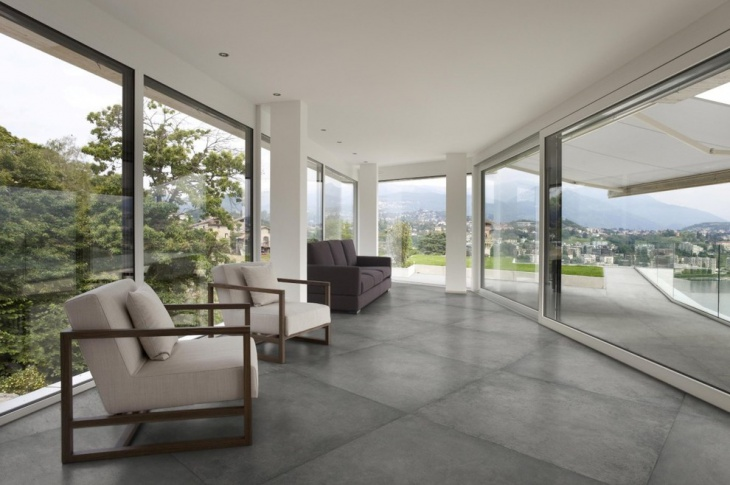 concrete look porcelain floor tiles