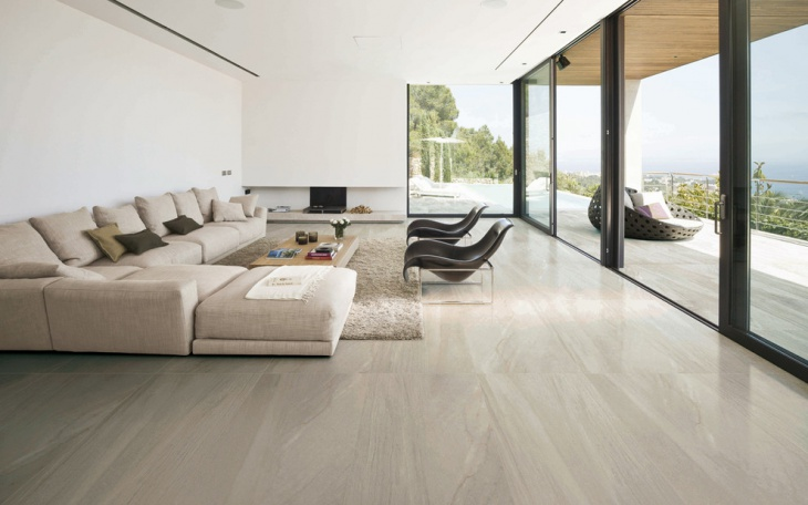 modern living room porcelain floor tiles