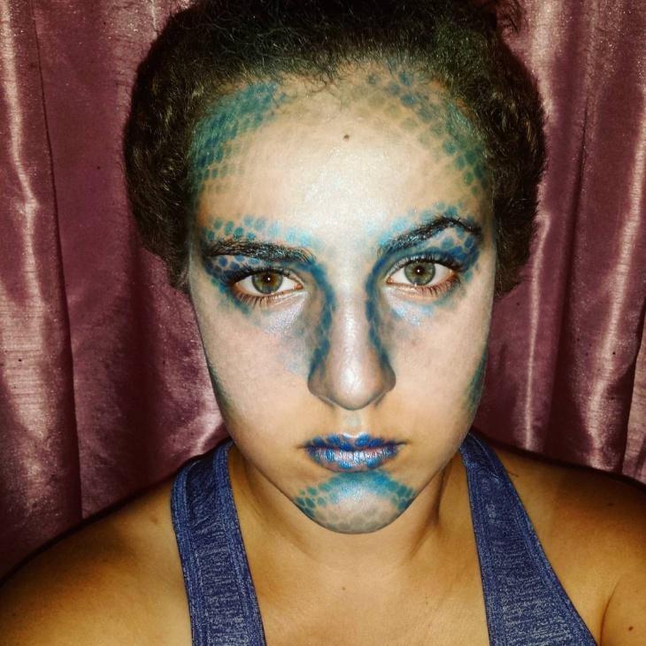Dragon Scale Makeup