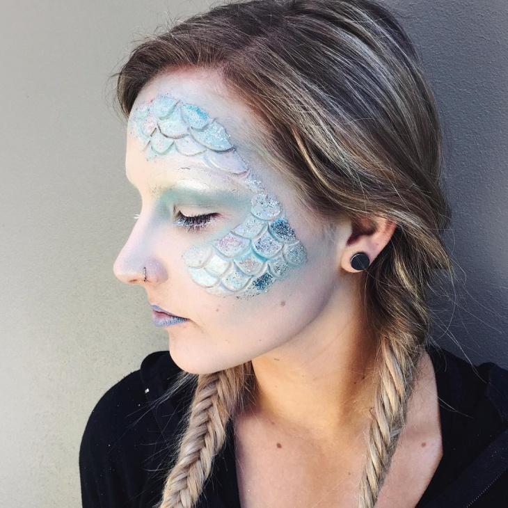 Glitter Scales Makeup Idea