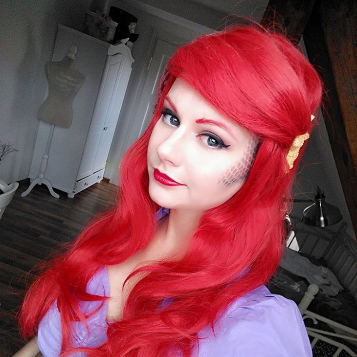 scale cosplay makeup