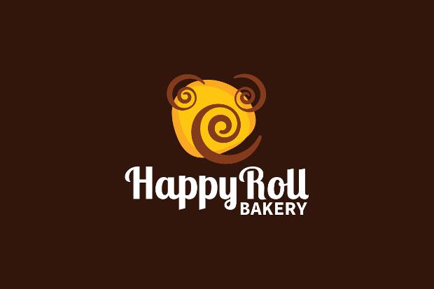 happy bakery roll logo