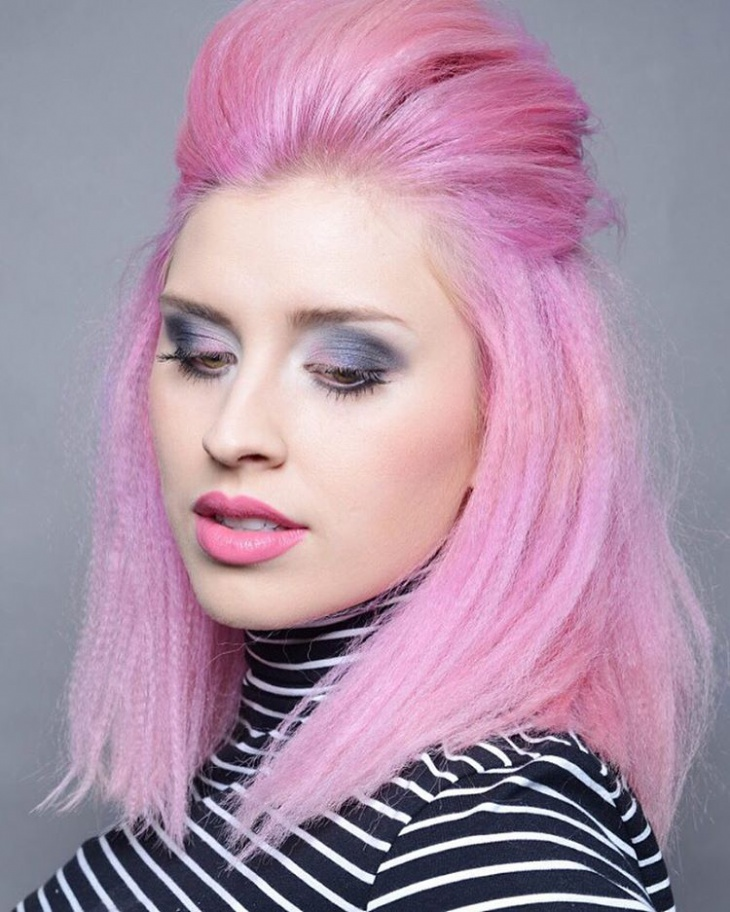 colorful crimped short hairstyle1