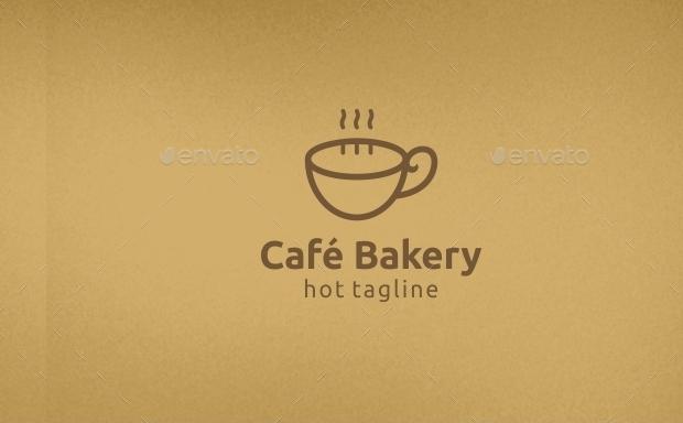 cafe bakery logo design
