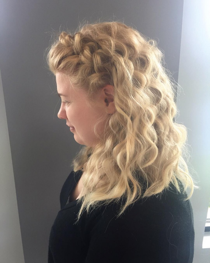 trendy braid curly with crimped hair