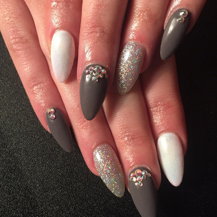 lovely holographic nail design