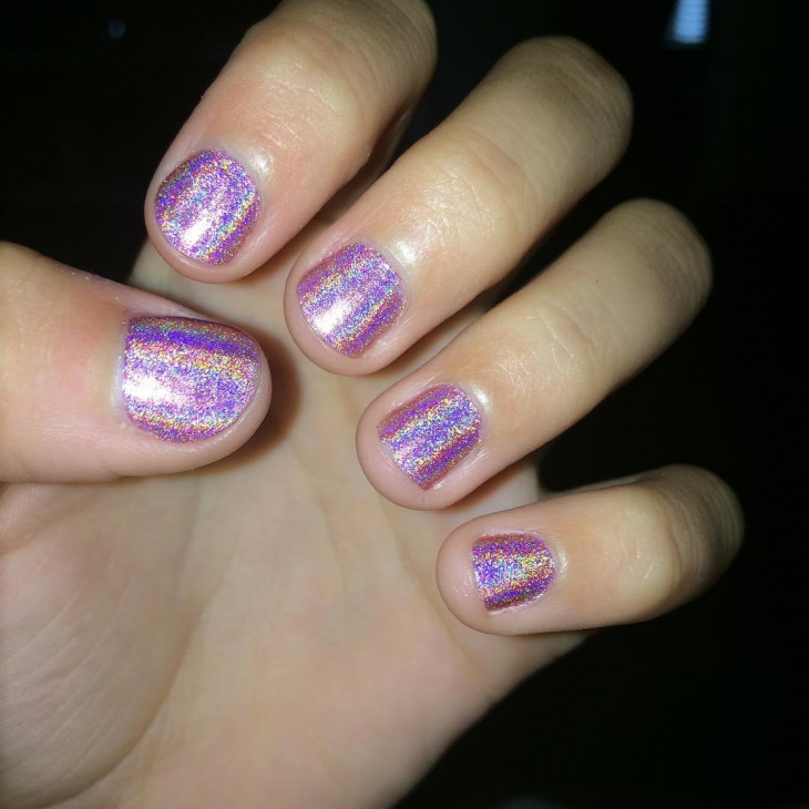 21+ Holographic Nail Art Designs, Ideas