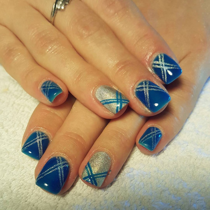 holographic summer nail art