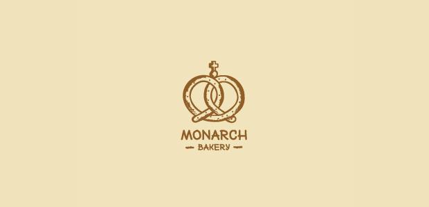 monarch bakery logo design