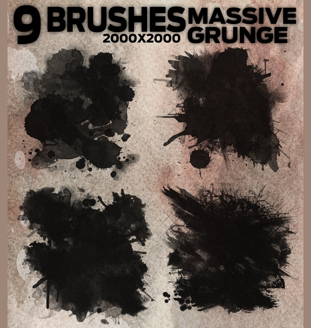 Vintage Massive Grunge Brushes