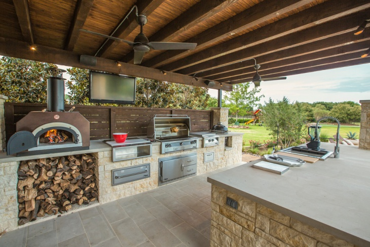 Outdoor Rustic Kitchen Island