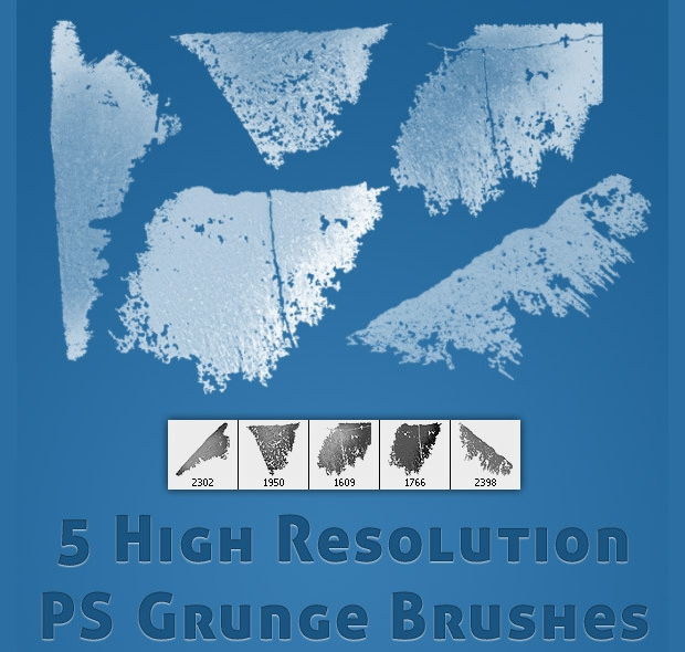 High Resolution Photoshop Grunge Brushes