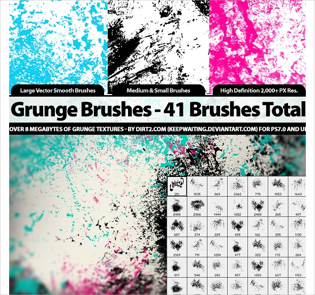 Colourful Photoshop Brushes Set