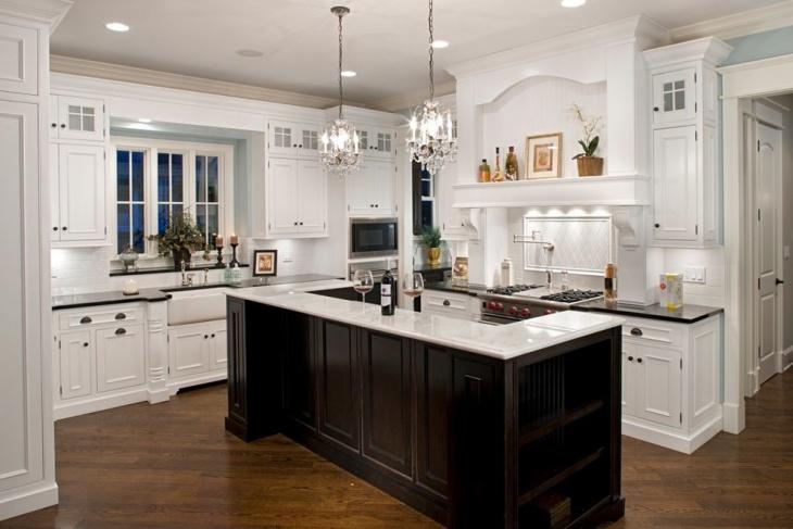 Small Chandelier Kitchen