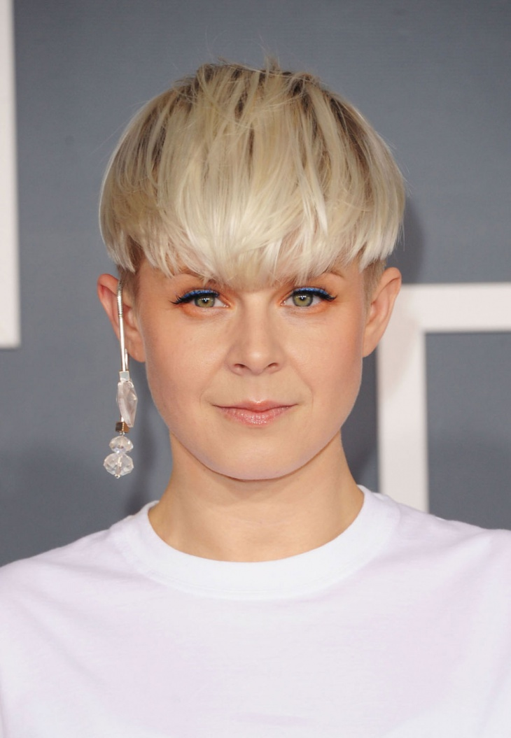 Robyn Bowl Cut Fade Hairstyle