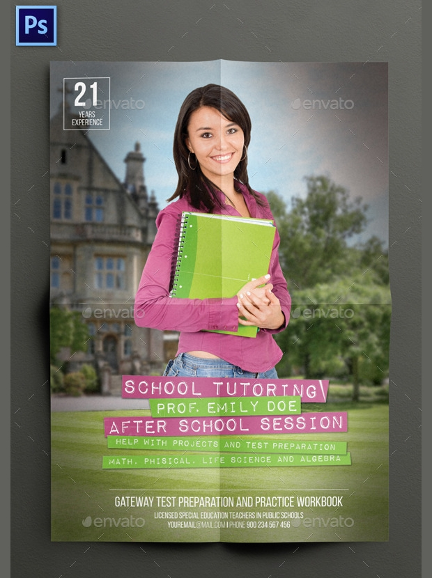 School Tutoring Flyer Design