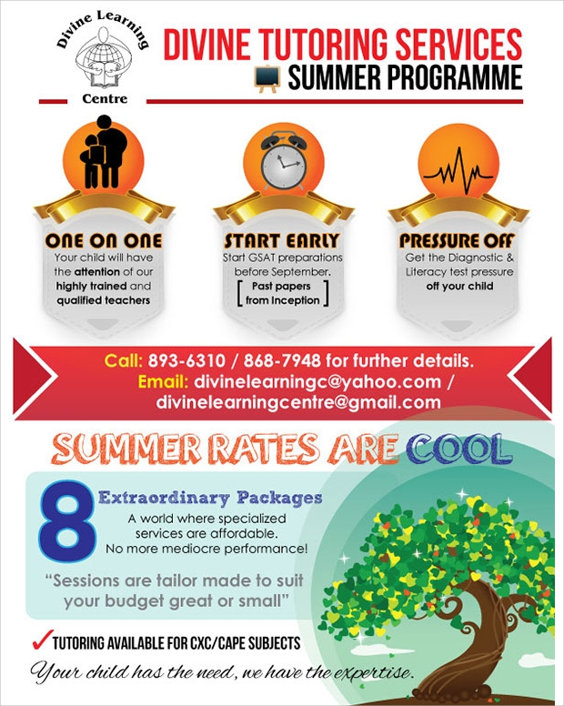 Summer Tutoring Promotional Flyer