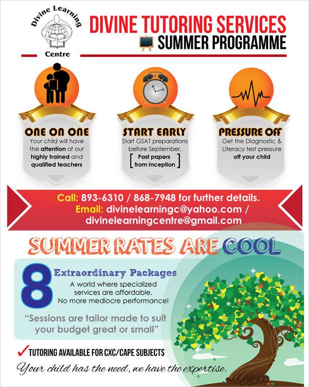 Summer tutoring flyer