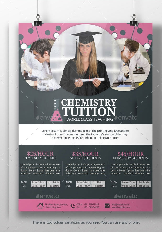 Chemistry Tuition Flyer Idea