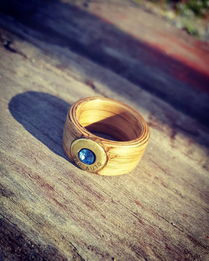Bentwood Bullet Ring
