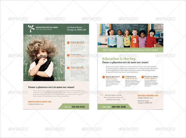 Tutoring Flyer Templates Printable PSD AI Vector EPS - High school brochure template