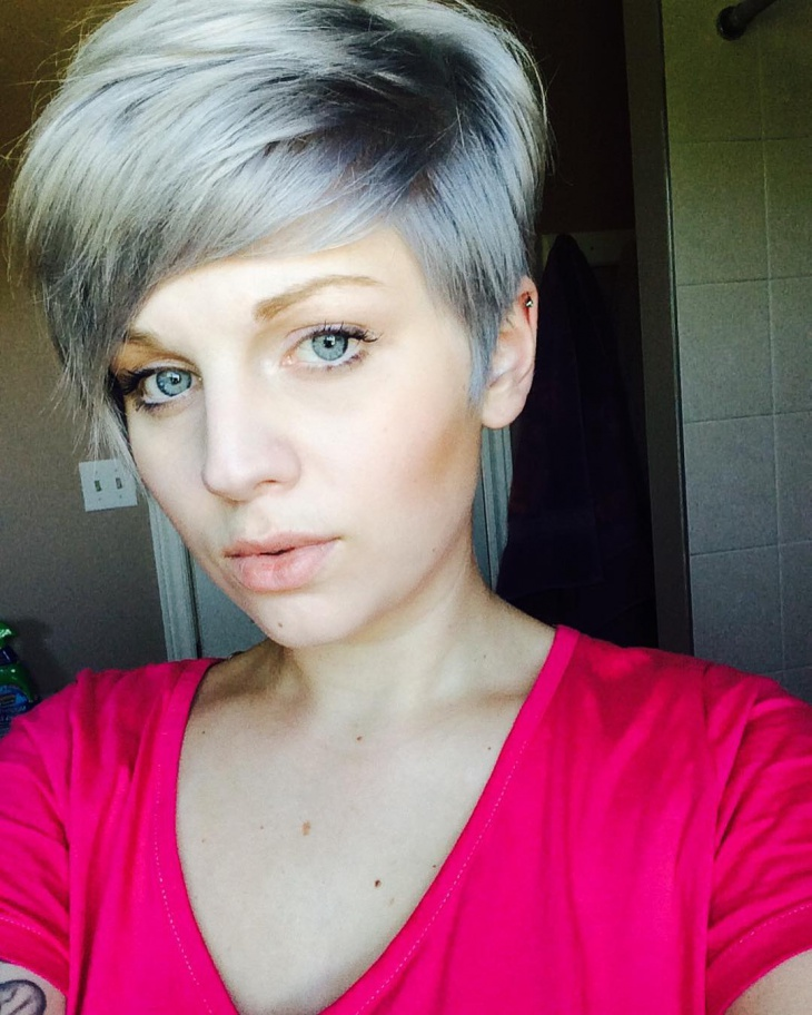 emo dark blonde pixie hair