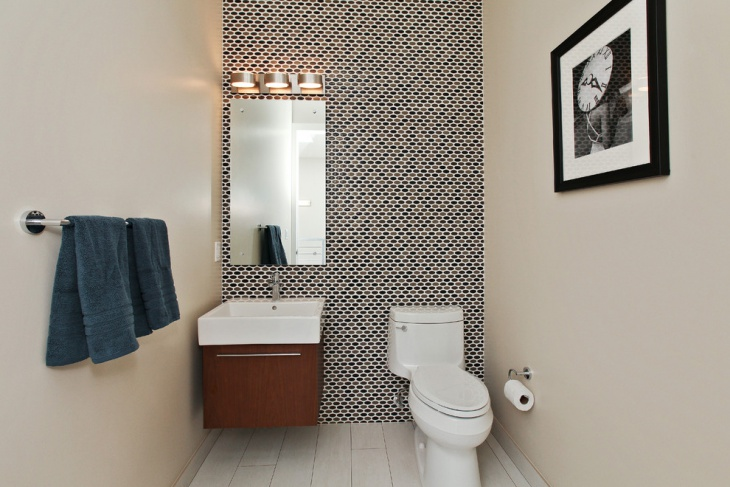 half bathroom wall pattern design