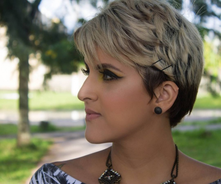modern long pixie hairstyle
