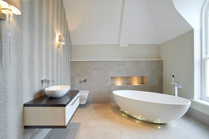 Luxury Half Bathroom Design