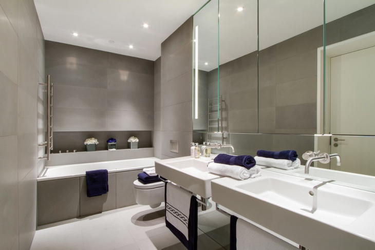 Contemporary Half Bathroom Design