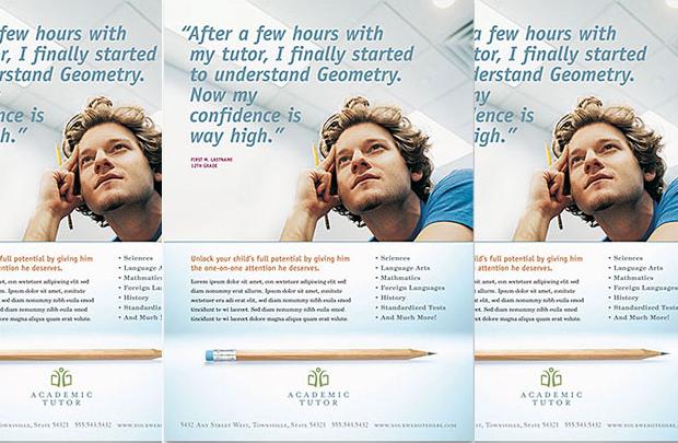 Academic and School Tutoring Flyer