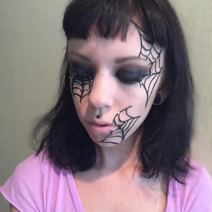 Halloween Spider Web Makeup