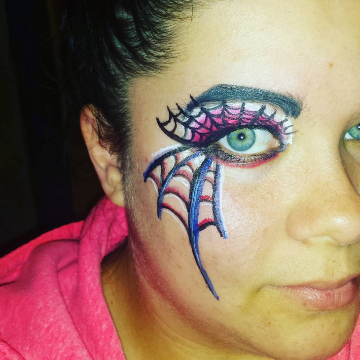 Spider Web Eye Makeup Design