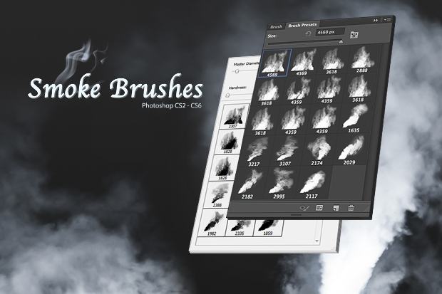 High Resolution Smoke Brushes