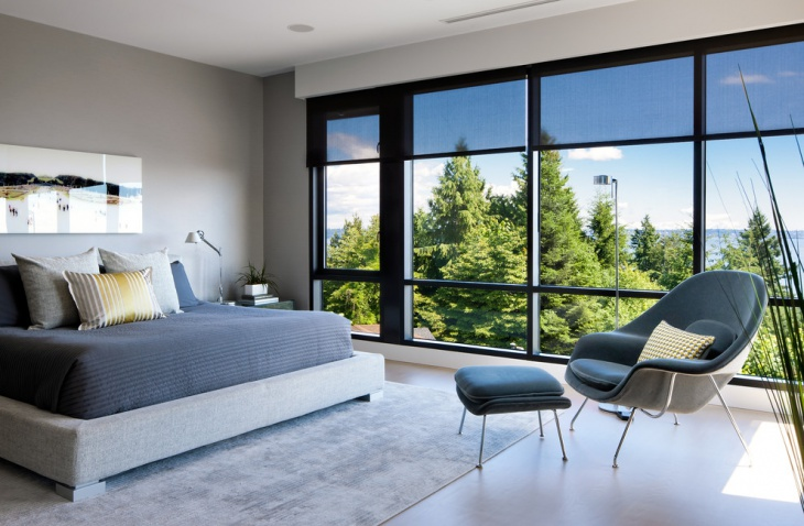 open view sleek bedroom