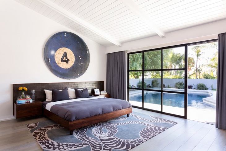wall art sleek bedroom idea