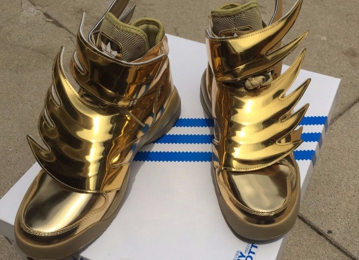 Adidas Gold Winged Shoes