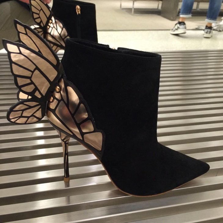 butterfly winged boots