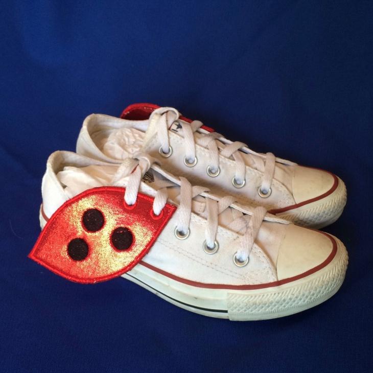 lady bug winged shoes