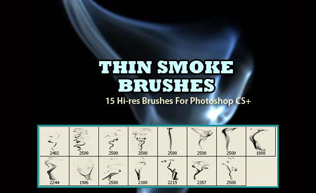 Thin Smoke Photoshop Brushes