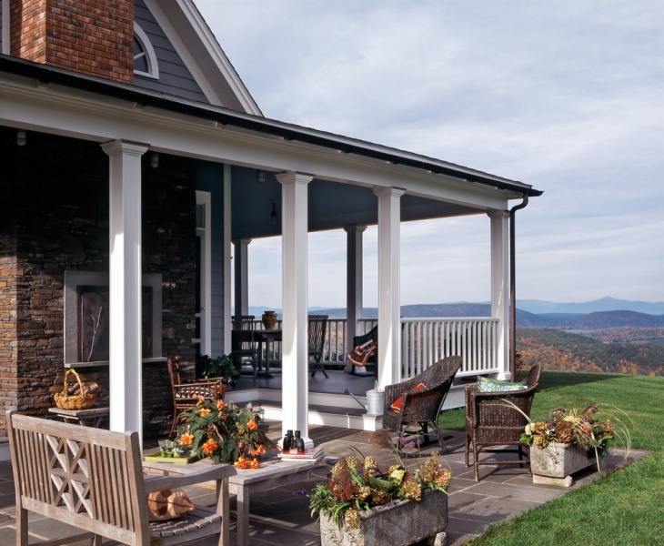 17 back porch designs ideas design trends premium for Covered back porch designs