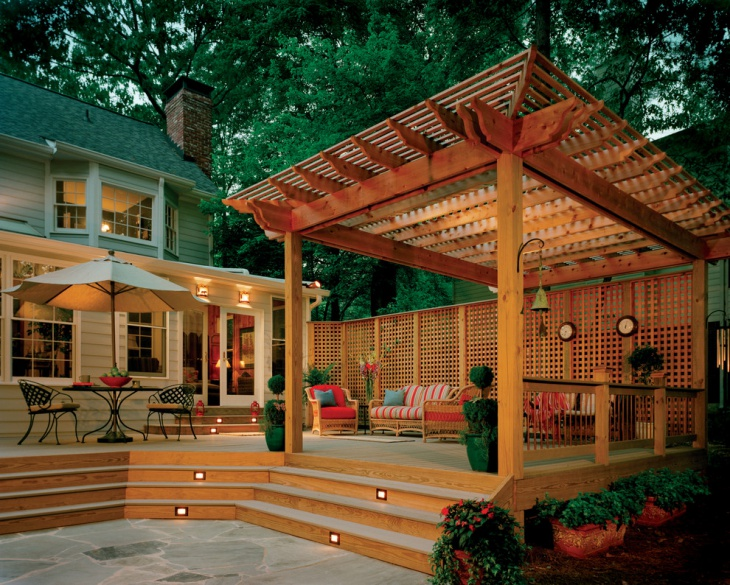 Pergola Back Porch Idea