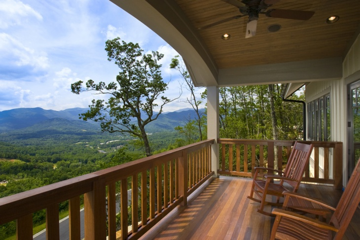 Mountain View Back Porch Patio