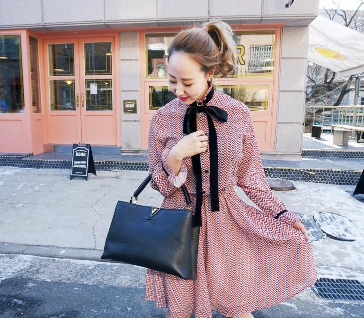 black ribbon dress for women