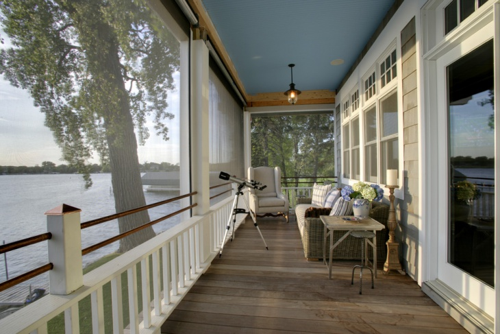 Free Space Back Porch Lake View Idea