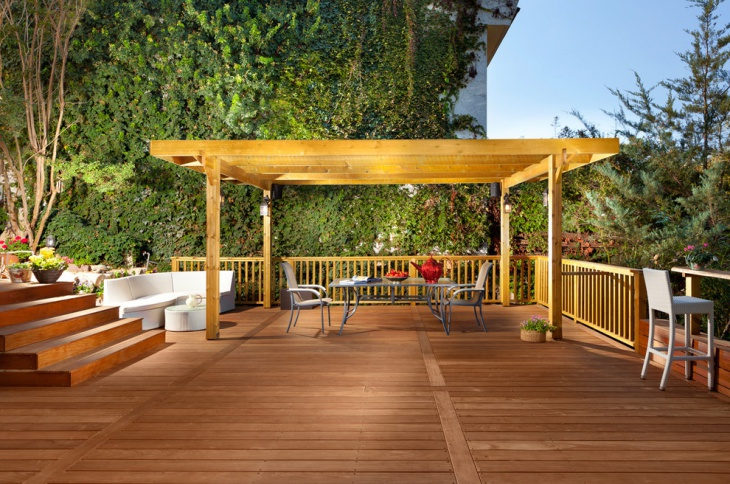 Back Porch Deck Design